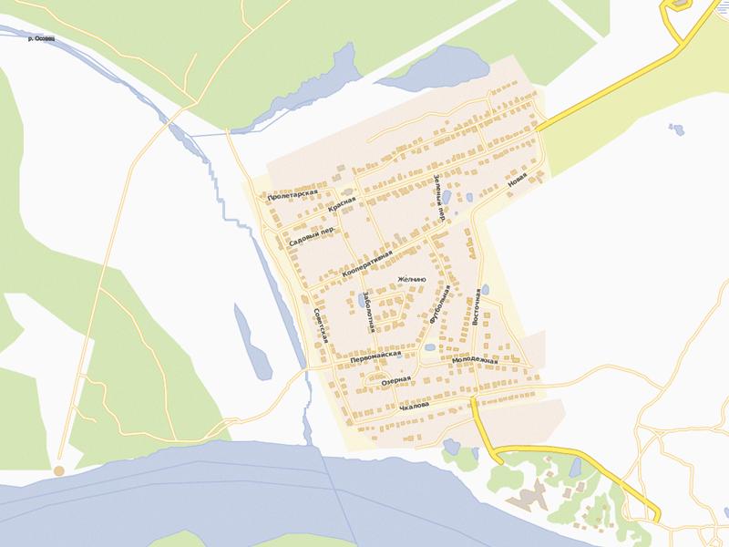 Карта-схема поселка Желнино
